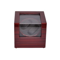 Watch Winder  LT Wooden Automatic Rotation 2+0 Watch Winder  Display Box (Outside is rose red and inside is black)2019