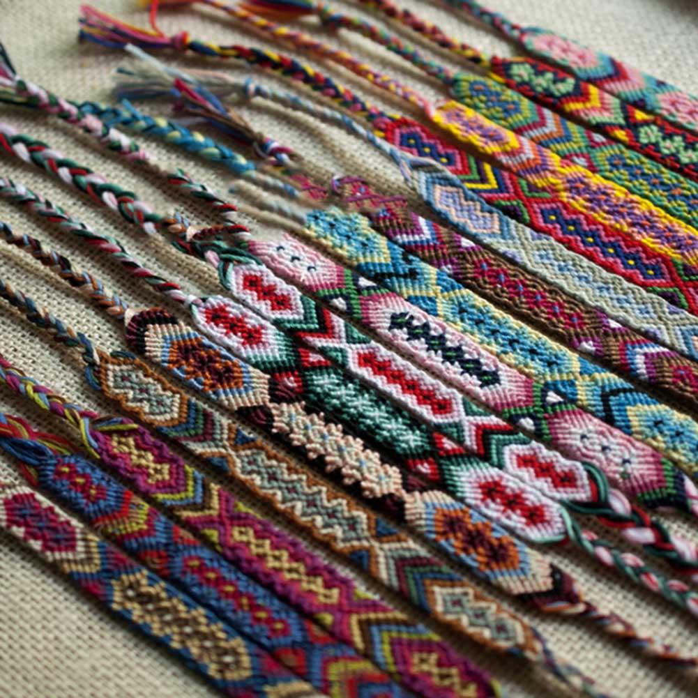 Colorful Woven Braided Bracelet Geneva folk style hand woven bracelet bracelet - random friendship