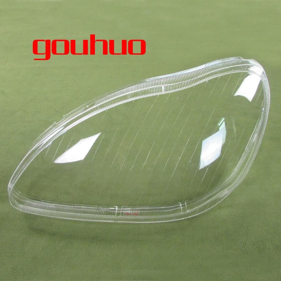 все цены на Headlight Cover Headlight Shell Transparent lampshade headlamp glass for 98-05 Mercedes Benz W220 S280 S320 S500 S600 S350 2PCS онлайн