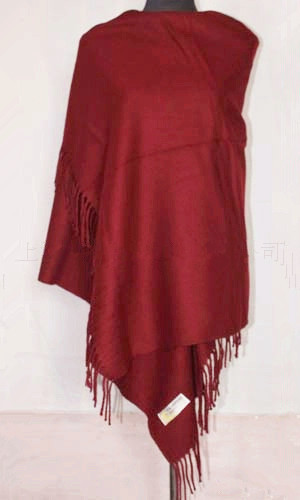 Fashion Burgundy New Winter Chinese Women's 100% Wool Shawl Scarf Thick Warm Wrap Free Shipping WS012-S