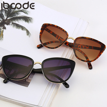 iboode Fashion Cat Eye Sunglasses Women Vintage Brand Designer Metal Sun Glasses Mirror Gift Shades UV400 Oculos Gafas De Sol