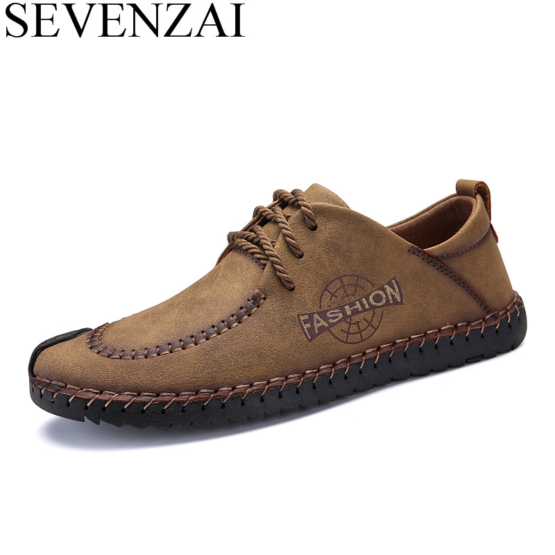 italian leather shoes men luxury brand leisure moccasins homme male casual driving footwear cool designer fashion ballet flats