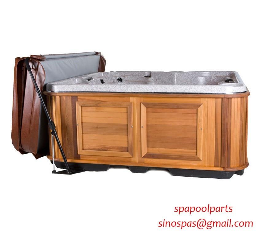 Морского класса алюминий Спа Крышка подъемник-двухместный номер Делюкс с системой удаления Крышка для гидромассажной ванны