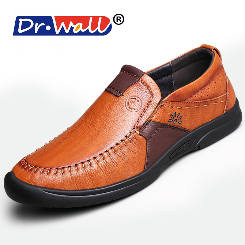 2017 New Superstar Shoes Casual Loafers Cow Leather Drivers Retro Brown Slip-on Designer ...