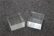 50x50x30mm Solid acrylic crystal square block jewelry display show stand holder plexiglass crafts