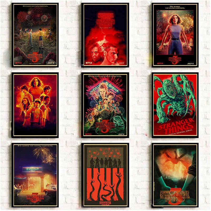 2019 новые ТВ-шоу странные вещи 3 плакаты и принты винтажные настенные наклейки печать на крафт-бумаге искусство домашний декор комнаты