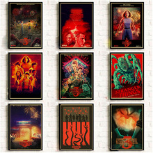 2019 New TV Show Stranger Things 3 Posters and Prints Vintage Wall Stickers Print on Kraft Paper Art Home Room Decor
