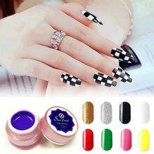 Гель толщина ногтей гель для наращивания ногтей окраска гелем матовый дизайн ногтей Украшение Лак для ногтей Блестящий цветной лак 1212