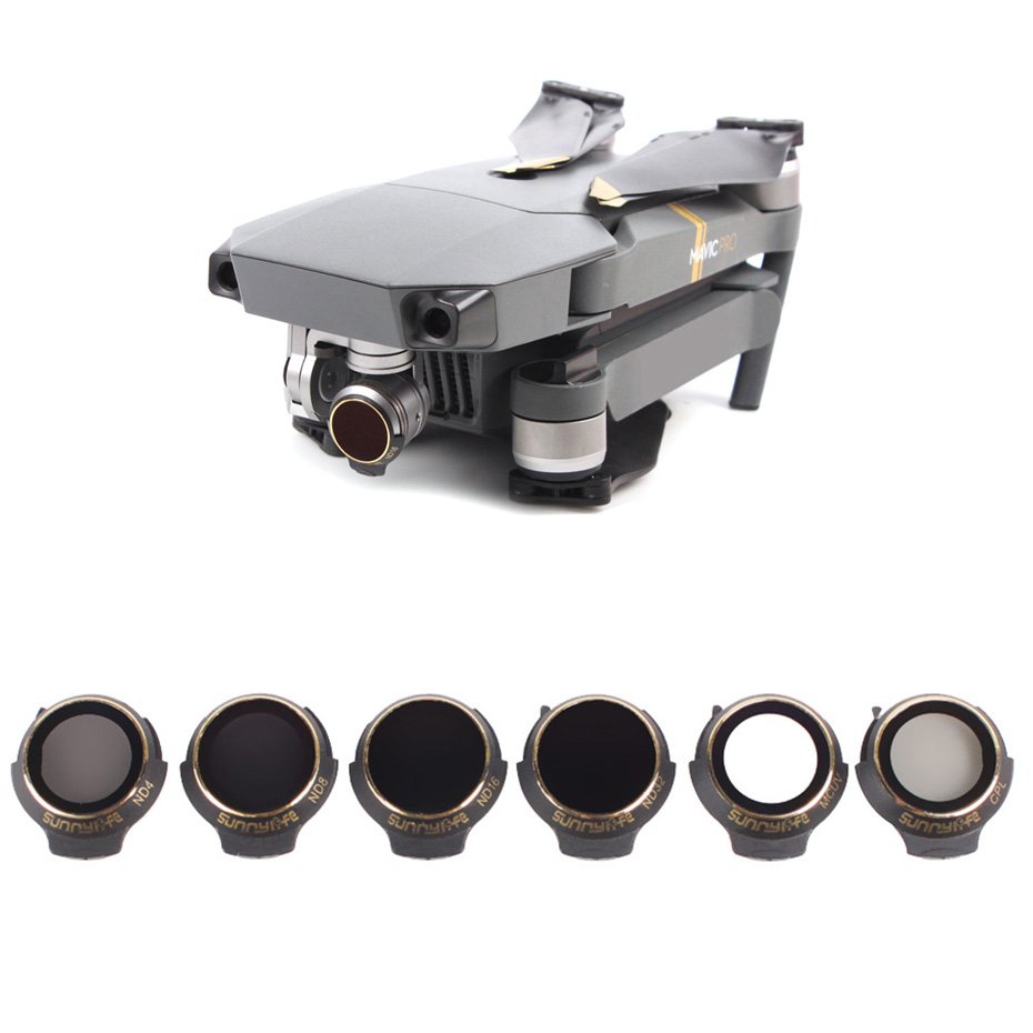 For DJI Mavic Pro Professional Platinum Neutral Density Lens Filter UV CPL ND4 ND8 ND16 ND32 Filter Drone Sunhood Accessories