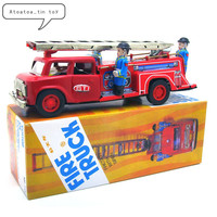 Classic Car Tin Wind Up Clockwork Toys Fire Truck Wind up Tin Toy For Children Adults Educational Collection Gifts