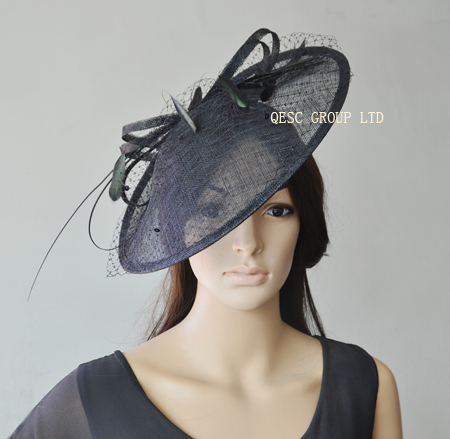 Wholesale Hot pink,Purple,nude pink,ivory.new color. BIG sinamay hat fascinator for races,wedding,kentucky derby.FREE SHIPPING