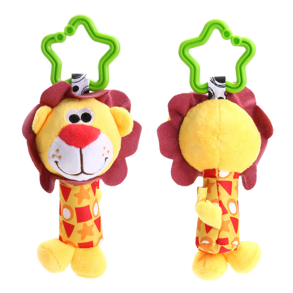 Baby Handbell Newborn Boys Girls Infant Soft Cute Animal Doll Handbells Developmental Baby Bells Toys