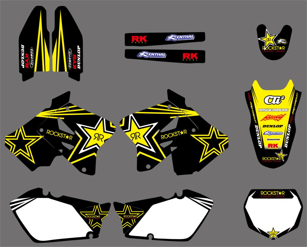NICECNC Motorcycle Graphic Decals And Stickers Kit For Suzuki RM125 RM250 RM 125 250 2001 2002 2003 2004 2005 2006 2007-2012