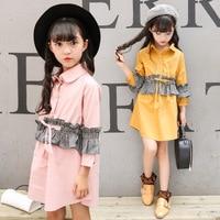 Autumn Children's Garment Children Clothing Girl Long Clothes Western Style Dress Hot Kids Clothing