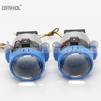 Free Shipping 1 Set 3 40w Hi Lo Beams Bi LED Projector Headlight Lens For Retrofit LHD Universal Use