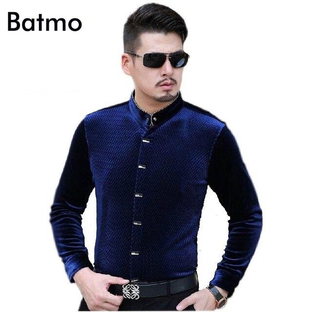 3c03027b587 2017 новое поступление стенд callor Повседневная Синий кашемировый мужская  рубашка