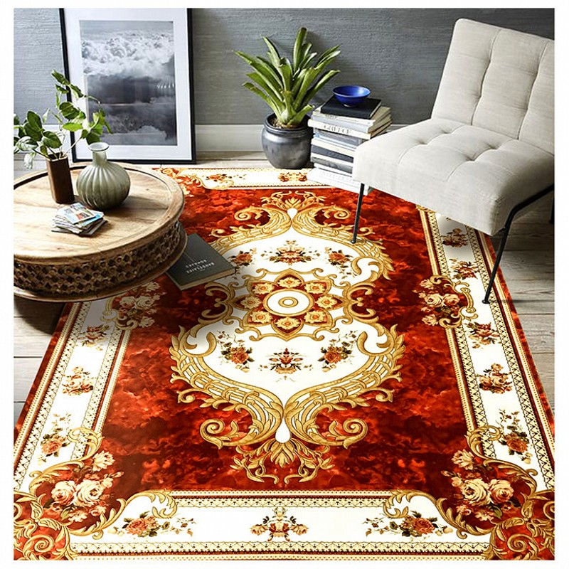 European Style Soft Carpet Bedroom Living Room Floor Home Doormats Collapsed Meters Machine Washable Hand washing Rug
