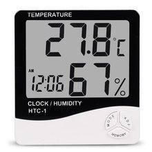 Закрытый Номер ЖК-Электронный Измеритель Температуры И Влажности Цифровой Термометр-Гигрометр Метеостанции Будильник HTC-1