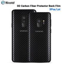 חזרה מדבקת 3Pcs עבור Samsung Galaxy A8 A6 J6 2018 בתוספת מסך מגן עבור סמסונג S9 בתוספת S8 פחמן סיבי על טלפון בחזרה סרט