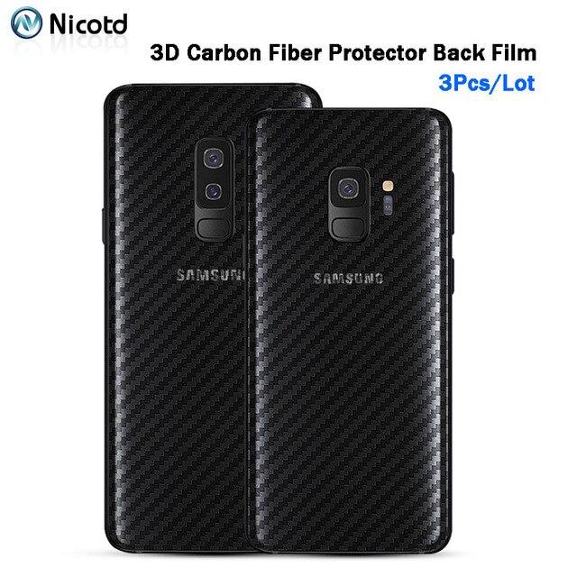 Zurück Aufkleber 3Pcs Für Samsung Galaxy A8 A6 J6 2018 Plus Screen Protector Für Samsung S9 Plus S8 Carbon faser Auf Telefon Zurück Film