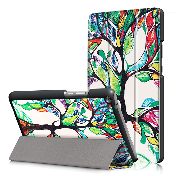 PU Leather Stand Cover Case for Huawei Mediapad T3 8.0 KOB-L09 KOB-W09 8 Tablet + 2Pcs Screen Protector cover case for huawei mediapad m3 youth lite 8 cpn w09 cpn al00 8 tablet protective cover skin free stylus free film