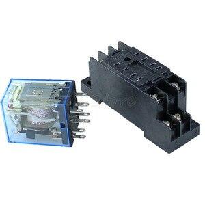 Image 5 - Mini relais avec prise, 10 pièces MY2P, HH52P MY2NJ 12V 24V DC / 110V 220V AC, bobine DPDT à usage général