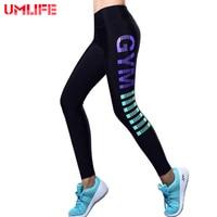 Umlife 2017 carta de las mujeres impreso leggings deportivos de fitness yoga pantalones elásticos sexy lady leggings correr pantalones de entrenamiento al aire libre
