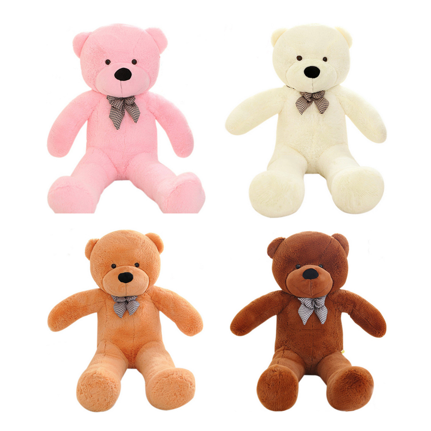 1pcs 100cm Plush toys large size 1m / teddy bear big 4 colors embrace bear doll /lovers/christmas gifts birthday gift 70cm fluorescent bear wedding birthday gift wholesale creative new large plush bear toys to give their children christmas gifts