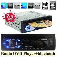 Xe đài phát thanh mới dvd vcd cd mp3 bluetooth tự động âm thanh xe hơi âm thanh stereo bluetooth máy nghe nhạc điện thoại fm usb aux-in 1 din trong dash 12v 5v sạc