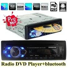 Nueva radio de coche DVD VCD CD MP3 bluetooth auto Car audio estéreo bluetooth teléfono reproductor AUX-IN FM USB 1 Din 5 V cargador en el tablero 12 V