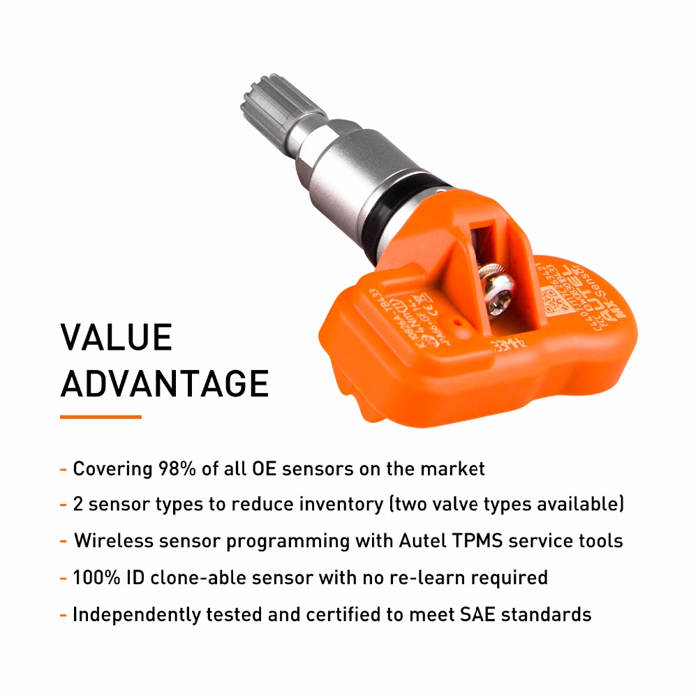 Image 3 - Autel Tire Pressure Monitoring Sensor MX Sensor 433MHZ Universal Programmable TPMS 433MHz For Ford for BMW for Land Rover more-in Pressure & Vacuum Testers from Automobiles & Motorcycles
