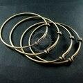 65mm diameter vintage brass bronze simple wiring bracelet for beading 1900020