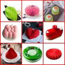 Molde de silicone para decoração de bolos, forma de sílico para decoração de bolos feitos de navegação, mousse, sobremesa, chocolate, ferramentas de confeitaria