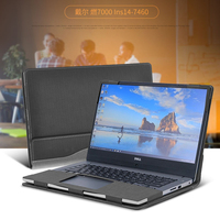 Creative Design Laptop Cov For 14 Inch DELL Inspiron 7000 Lns14 7460 Sleeve Case PU Leather
