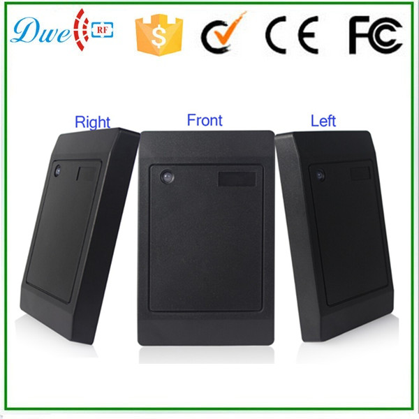 цена DWE CC RF free shipping 13.56Mhz RS485 black smart card reader for door access
