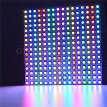 16*16 Pixel 5050 Rgb WS2812B Panel SK6812 WS2812 Adresseerbare Ragid Led Panel Screen Individueel Adresseerbare Rgb Full Color DC5V