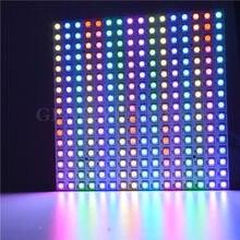 16*16 piksel 5050 RGB WS2812B paneli SK6812 WS2812 adresli sert LED panel ekran bireysel adreslenebilir RGB tam renkli DC5V