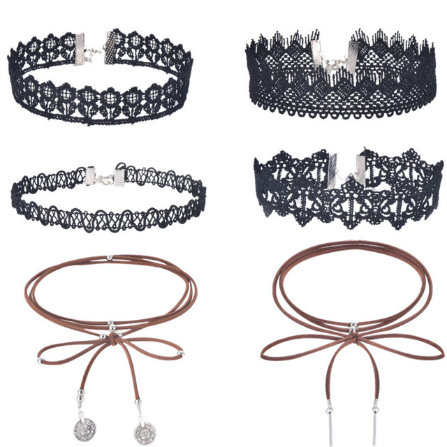 Fashion jewelry fashion cool cloth Lace Tattoo choker necklace Valentine's Day present love gift for women x23