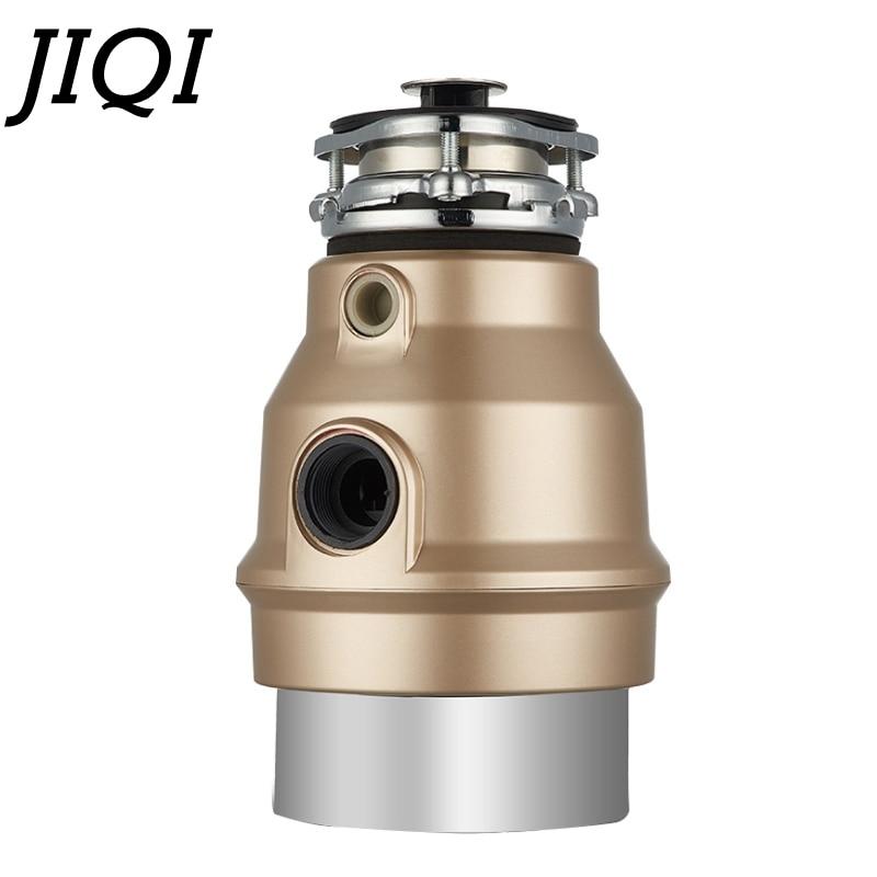 JIQI измельчитель для мусора, обработчик пищевых отходов, измельчитель, измельчитель из нержавеющей стали, измельчитель, кухонный прибор 550 Вт с адаптером