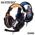G2000 LOL Gaming Headphone Laptop Game Headset Orange LED+Mic Volume Knob