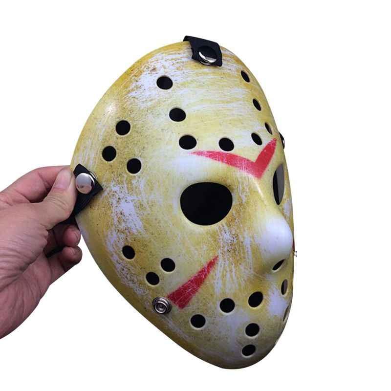 Masker Halloween Vintage Pesta Cosplay PVC Jason Freddy Topeng Hoki Delicated Tebal Kostum Masquerade Masker Halloween Mask