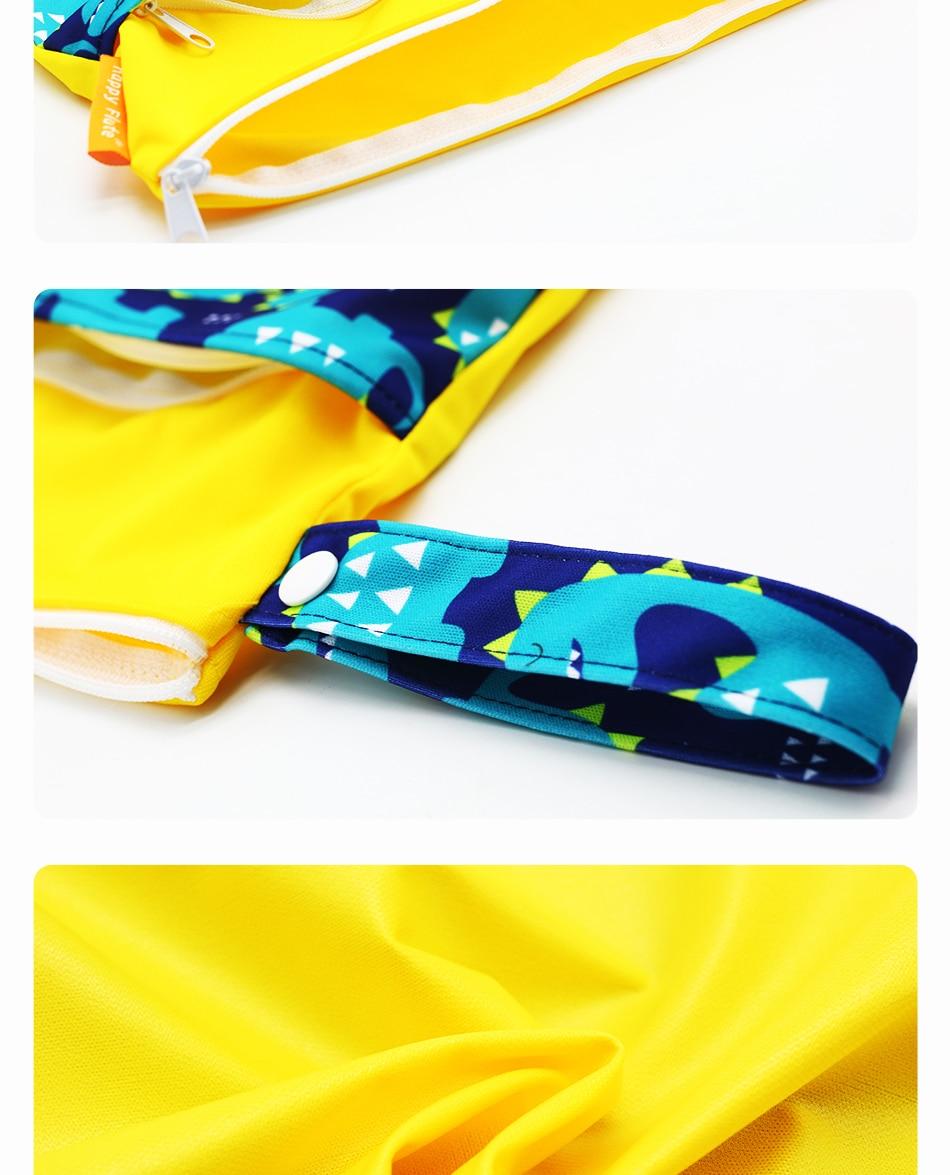 HTB1u73tikUmBKNjSZFOq6yb2XXaG Happy Flute 1PC Reusable Waterproof Fashion Prints Wet Dry Diaper Bag Double Pocket Cloth Handle Wetbags 30*40CM Wholesale