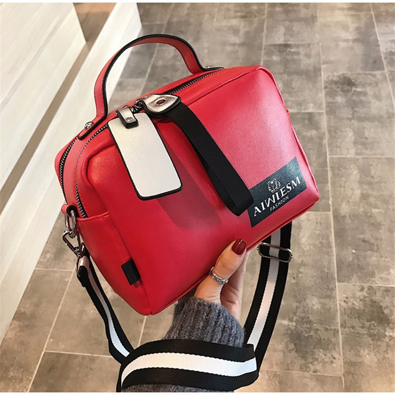 Image 2 - Large capacity luxury handbags women bags designer Double zipper solid color bags women hot sale bag female 2019 black women's-in Shoulder Bags from Luggage & Bags