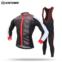 XINTOWN Cycling Jersey Set Long Wear Super Warm Winter Thermal Fleece Bicycle Bike MTB Ropa Ciclismo