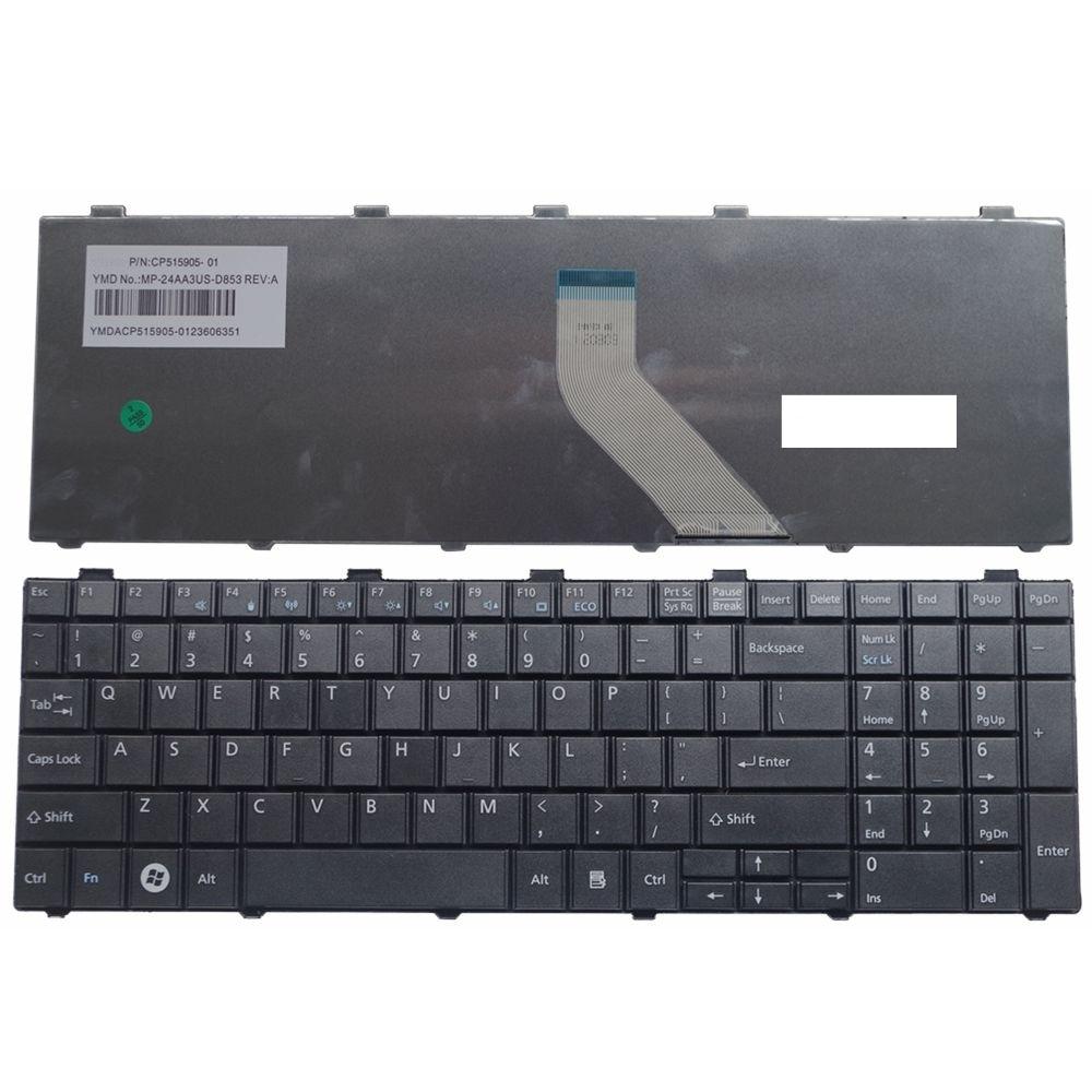 New US Keyboard For Fujitsu Lifebook AH530 AH502 AH531 NH751 A530 A531 Black English Laptop Keyboard