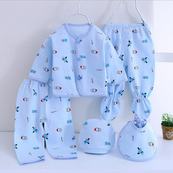 Bekamille Summer 5pcs/set Newborn sets Cotton baby set Girls Boys suits Baby infant Clothes Baby Accessories