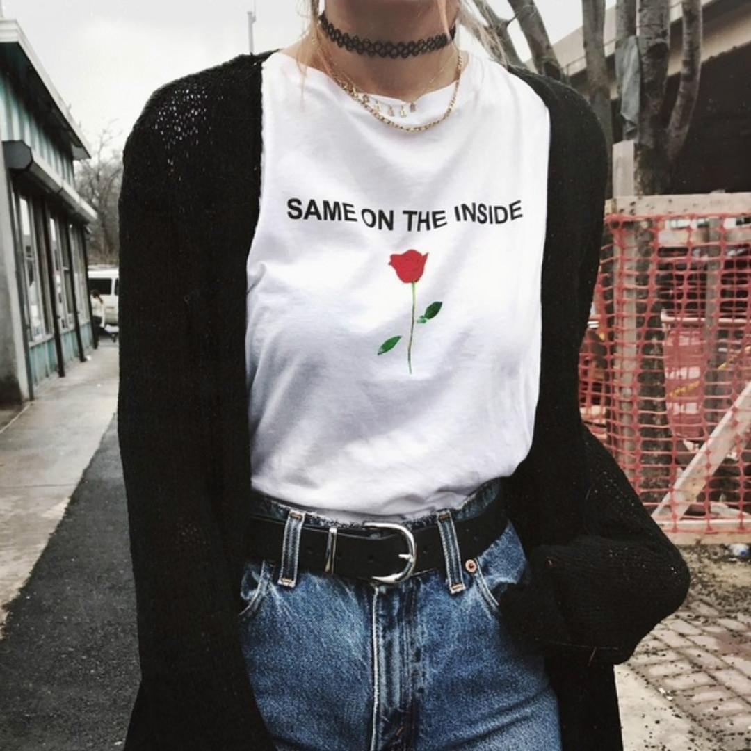 White Girl Fashion: Women Tumblr Fashion Cute Casual White T Shirts Graphic