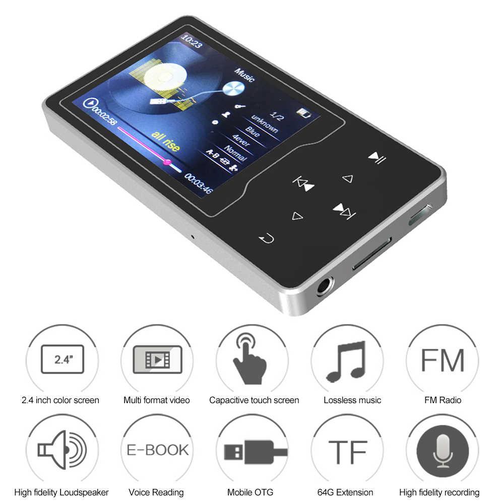 RUIZU MP3 MP4 цифровой плеер D08 8 GB 2,4 дюйма Экран музыки плеер без потерь аудио и видео плеер FM радио чтения электронных книг TF карты