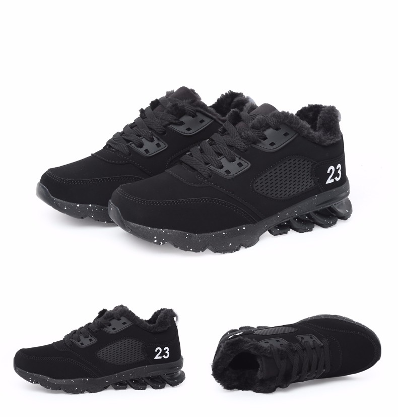 2017 Fashion Winter Women Casual Shoes Plush Warm Sport Low Top Women Shoes Black Pink Breathable Lace Up Woman Trainers YD165 (22)