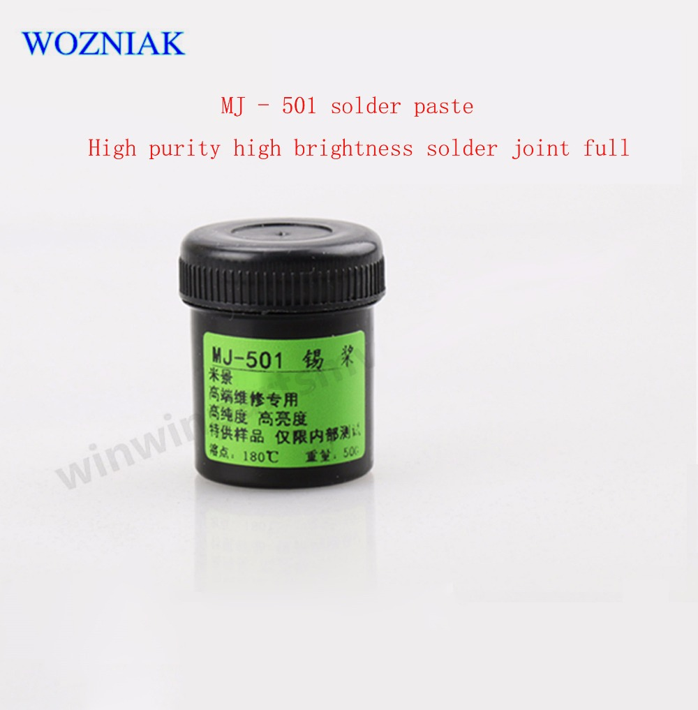 MJ - 501 tin tin oar cell phone repair pulp IC chip solder paste plant level High purity High brightness solder to be full oar toddler